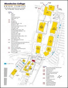 map of Mendocino College- Ukiah Campus